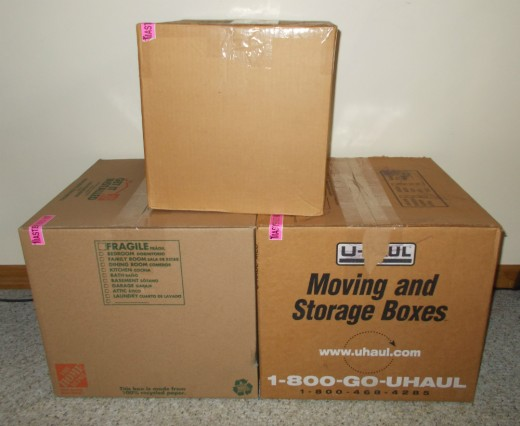 Label boxes on both the top and side so it's easier to find the right box when the boxes are stacked.