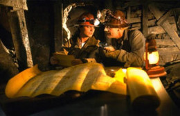 Doc and Marty in the mine