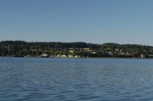 Passing Camano Island north of Seattle about 30 minutes out