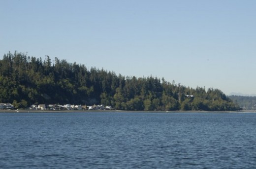 Whidbey Island would be on the port side