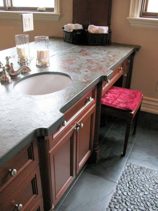 Granitr Countertop with Brushed Finish