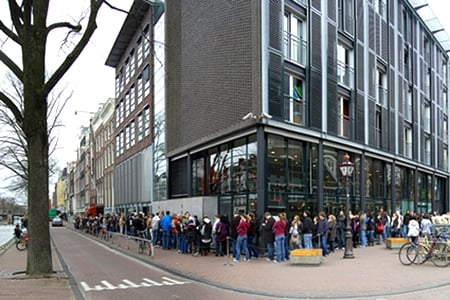 Queue for Anne Frank House