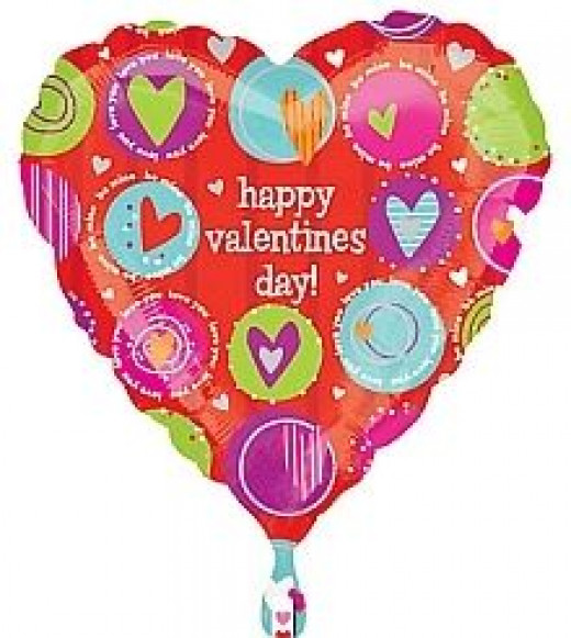 happy valentine balloon