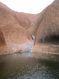 The sacred waterhole at Uluru
