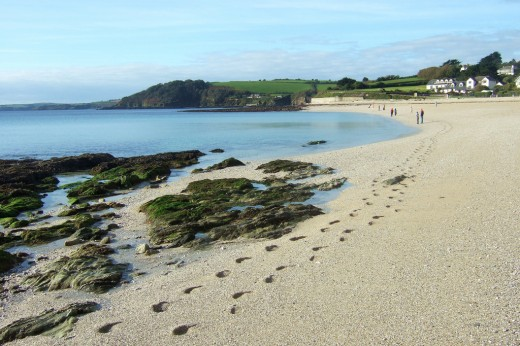 Gyllyngvase beach.  Photo by Foilman and distributed under Creative Commons Attribution-Share Alike 2.0 license.