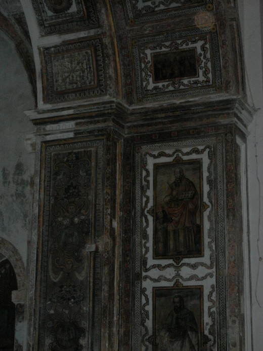 Amazing wall decorations in some of the old churches