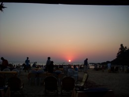 Dinner every night on the beach was like this
