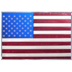 Red Stained Glass American Flag