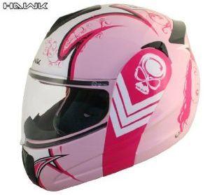 Advanced Hawk Pink Queen Dual Visor Full Face Motorcycle Helmet