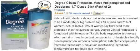 Degree Clinical Protection, Men's Anti-perspirant