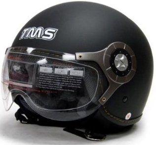 Flat Matte Black Air Force Jet Pilot Open Face Motorcycle Scooter Helmet DOT