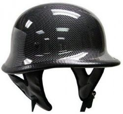 German Carbon Fiber Motorcycle Biker Cruiser Scooter Touring Half Helmet