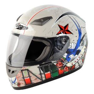 Nitro Tattoo Pearl/Beige X-Large Off-Road Helmet