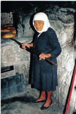 In the villages bread is still baked in the outdoor bee-hive shaped ovens on a weekly basis.  At the Last Supper, Jesus Christ told His Disciples to eat bread and drink wine as symbols of His body and blood.