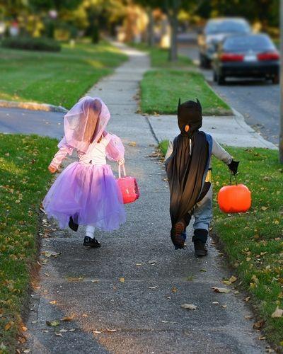 Halloween Kids Running