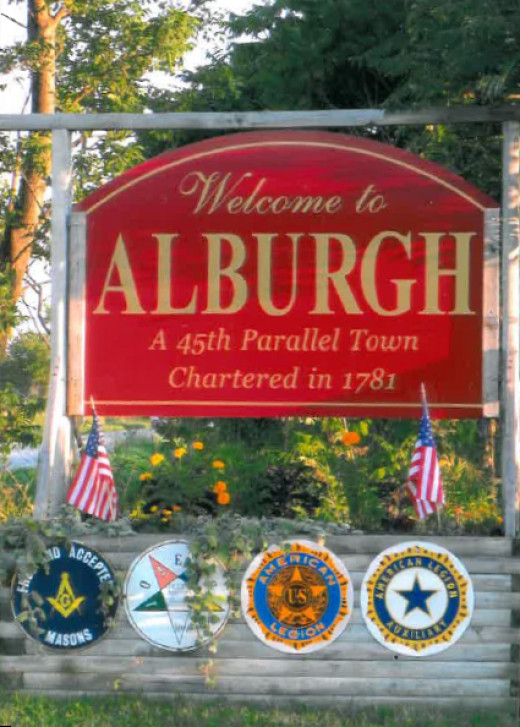 45th Parallel Towns- Alburgh, VT