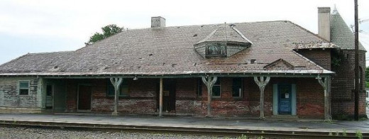 Rouse Point Train Station (last stop in the U.S.)