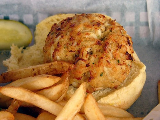 Not a Pappas crab cake, but a delicious crabcake regardless.