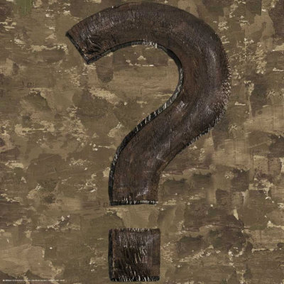 Typography:  Question Mark