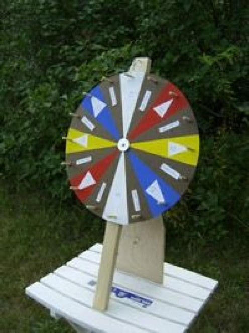 Home-made spinning wheel