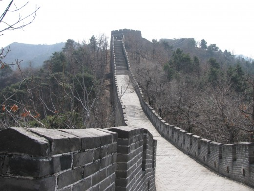 The restored section of the Mutianyu Great Wall.