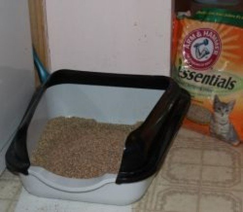 High-sided kitty-litter pan