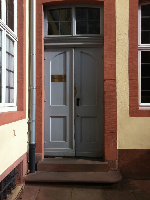 The door to Goethe's house.