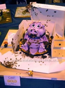 Chocoholic Dragon Cake by Elaine Thomas, Creative Celebration Cakes