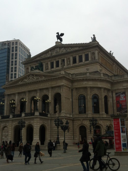 Old Opera house in Frankfurt