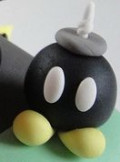Close-up Details of the Super Mario Kart Race Car Cake