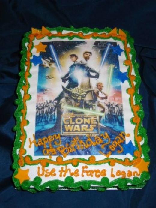 Clone Wars Edible Image Cake