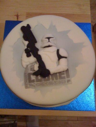 Clone Wars 3D Fondant Cake