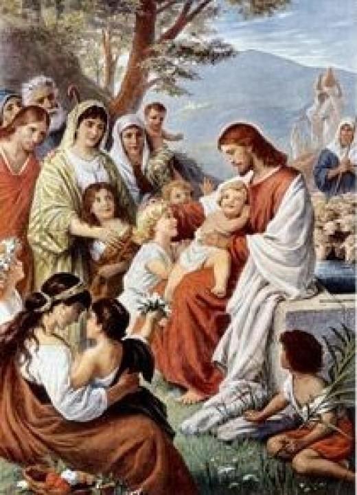 Painting: Jesus_Blessing_the_children.jpg