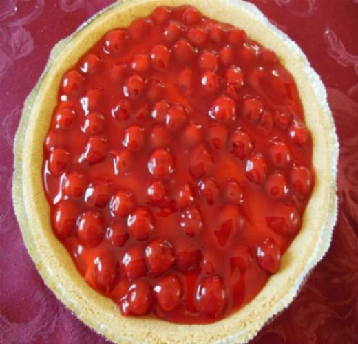 cherry-yogurt-cream-cheese-pie