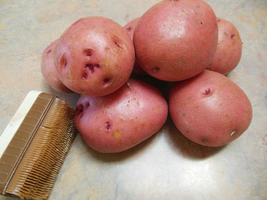 Cleaned Red Potatoes
