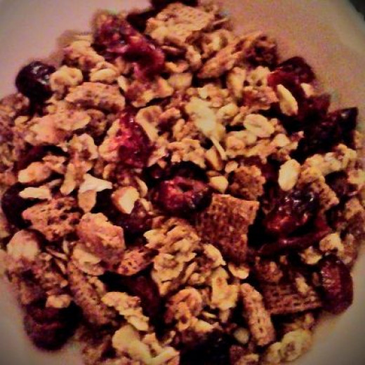 Jelly roll pan filled with Granola