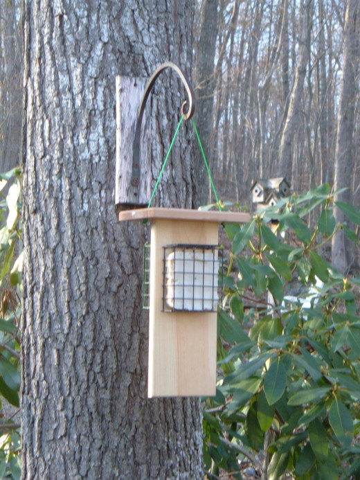 Handcrafted Suet Feeder