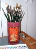 Make An Artists Paint Brush Holder for Your Artist Brushes