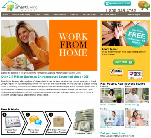 Old Smart Living Company Home Page