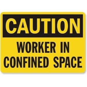 Caution Worker Sign