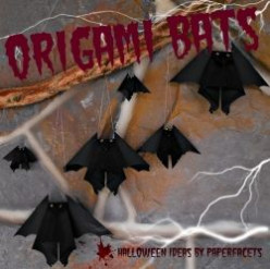 Make Origami Bats for Halloween