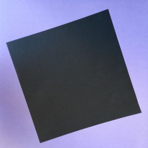 Start with a perfect square in black, brown in any shade, gray or any other color that suits your fancy for Halloween.