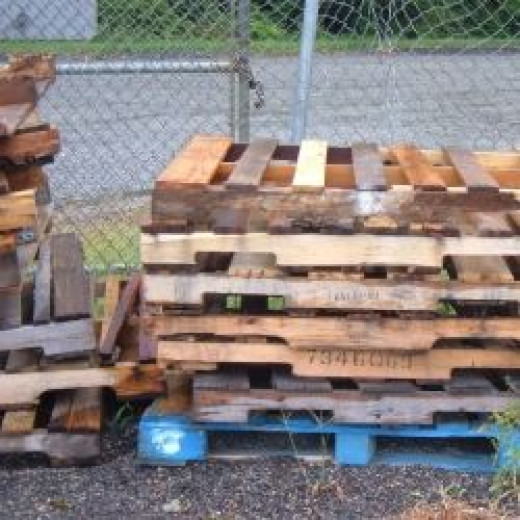Pallets are a good source for reclaimed lumber