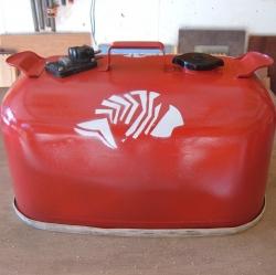 Restored Metal Gas Tank