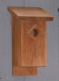A simple, easy to make and effective bluebird birdhouse
