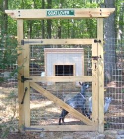 The entrance to our goat pen