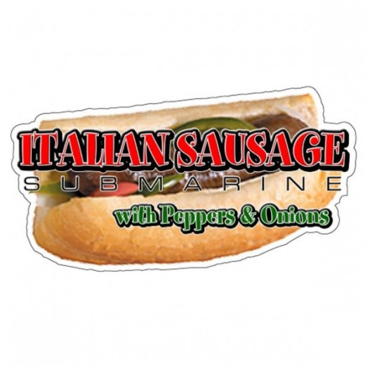 Sausage, Pepper and Onion Sandwich Decal