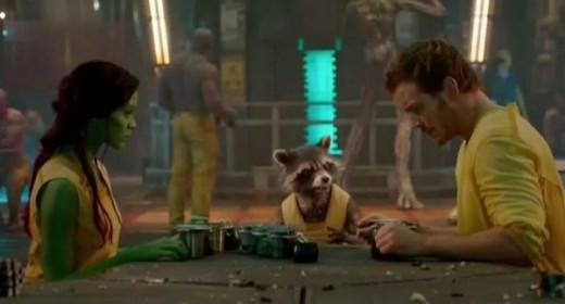 Peter, Gamora, and Rocket