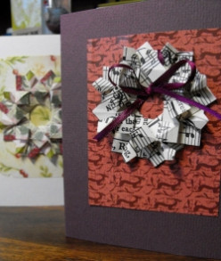 How To Paper Fold Wreaths