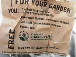 Recycled Starbucks Grounds
